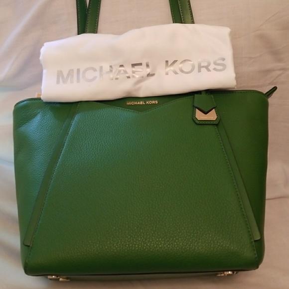 e515b4d7883c NWT Michael Kors Whitney True Green Small Tote
